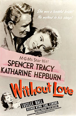 Without Love, Spencer Tracy, Katharine Art Print by Everett