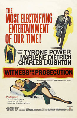 Witness For The Prosecution, From Top Art Print by Everett