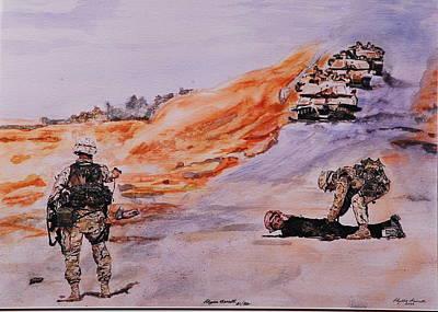 Iraq Painting - Witness Iraq by Phyllis Barrett