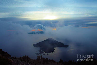 Photograph - Wizard Island At Crater Lake by Adam Jewell