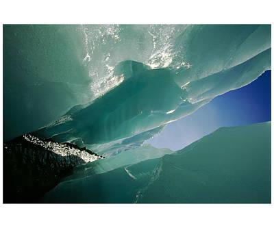 Wolf Creek Flows Through Perennial Ice Art Print by Raymond Gehman