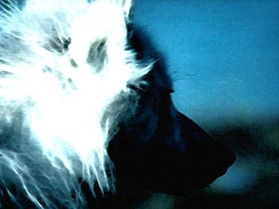 Hera Painting - Wolf Friend by Colette V Hera  Guggenheim