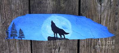 Wolf Howl1 Art Print by Monika Shepherdson