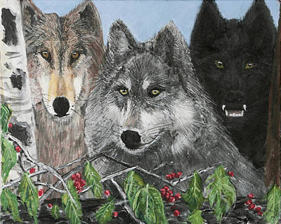 Painting - Wolf Pack by Charlie Harris
