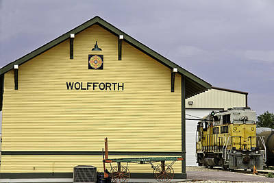 Photograph - Wolfforth's New Old Train Depot by Melany Sarafis