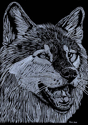 Wolfie Print by Jim Ross