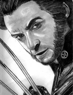 Leather Glove Drawing - Wolverine by Ralph Harlow