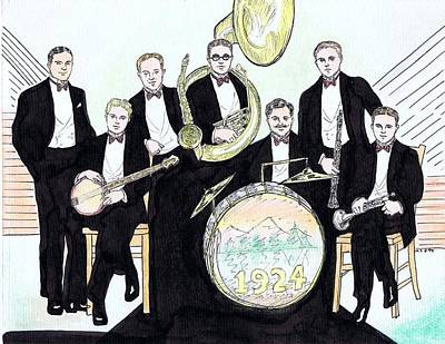 Trombone Drawing - Wolverines 1924 by Mel Thompson