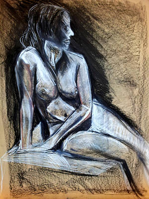 Drawing - Woman 1 by John Jr Gholson
