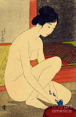 Japanese Nude Photograph - Woman After Bath 1915 by Padre Art