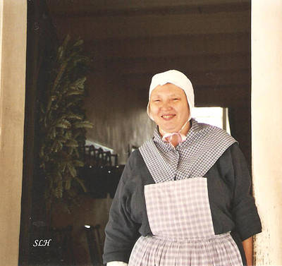 Photograph - Woman At Old Salem by Lee Hartsell