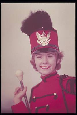 Marching Band Photograph - Woman Dressed In Band Uniform, 1950s by Archive Holdings Inc.