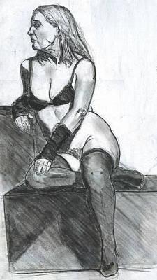 Woman Art Print by Eric Atkisson