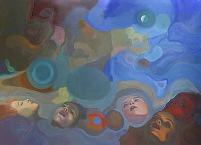 Surrealistic Painting - Woman Faces by Fernando Alvarez