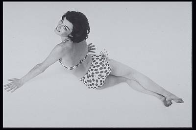 Woman In A Polka Dotted Bikini, 1960s Art Print