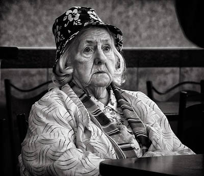 Photograph - Woman In A Restaurant by Robert Knight