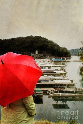 Raincoats Photograph - Woman In Rain by Stephanie Frey