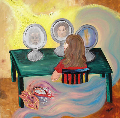 Woman In The Mirror Art Print by Lisa Kramer