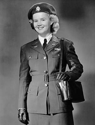 Woman In Uniform Art Print by George Marks