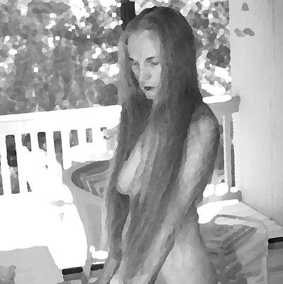 Photograph - Woman In Wood by Nancy Taylor
