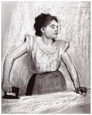 Woman Ironing Art Print by Edgar Degas