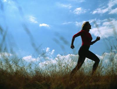 Woman Jogging Art Print by Cristina Pedrazzini