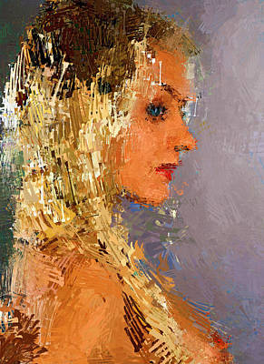 Woman Long Strokes Art Print by Yury Malkov