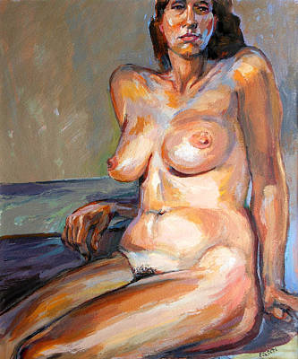 Art Print featuring the painting Woman Nude by Stan Esson