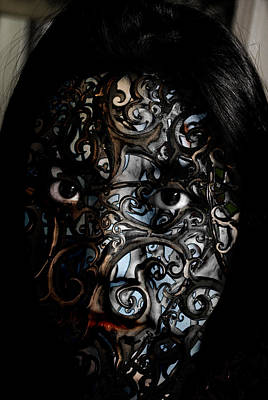 Painted Face Painting - Woman Of Mystery by Christopher Gaston