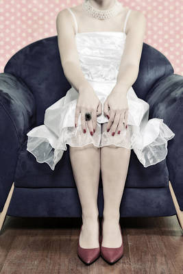 Red Nail Polish Photograph - Woman On Chair by Joana Kruse
