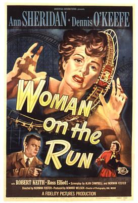 Postv Photograph - Woman On The Run, Poster Art, Ann by Everett
