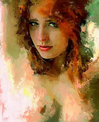 Woman Portrait 5 Art Print