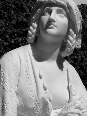 Photograph - Woman Sculpture Braided Hair Breast by Jeff Lowe