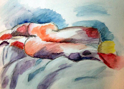 Painting - Woman Sleeps by Shelley Bain
