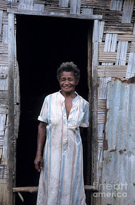 Pentecost Photograph - Woman Standing-up Outside Her Home by Sami Sarkis