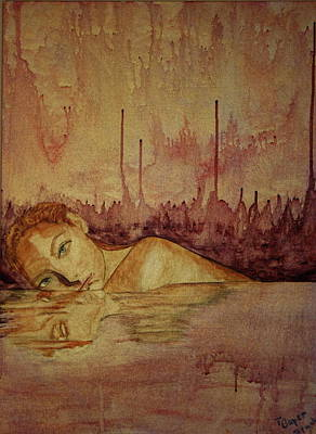 Art Print featuring the painting Woman by Teresa Beyer