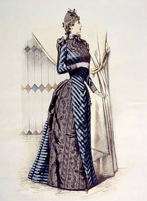 Woman Wearing A Bustle Dress Art Print