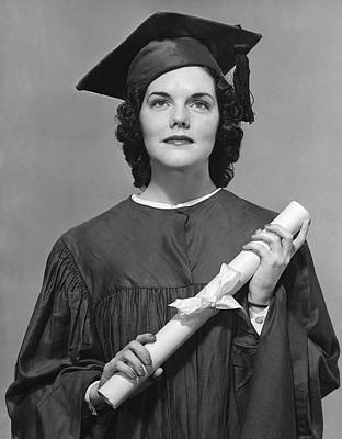 Woman Who Graduated Art Print by George Marks