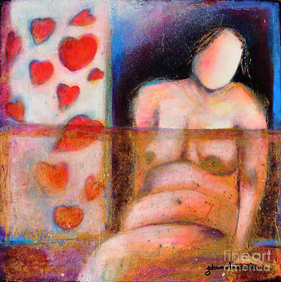 Woman With Curves And Beautiful Art Print by Johane Amirault