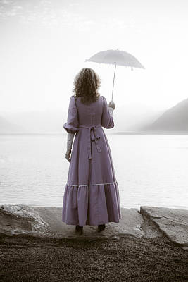 Lake Maggiore Photograph - Woman With Parasol by Joana Kruse