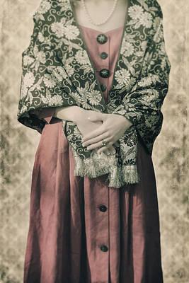 Woman With Shawl Art Print by Joana Kruse
