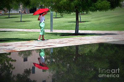 Photograph - Woman With The Red Umbrella by Tamyra Ayles