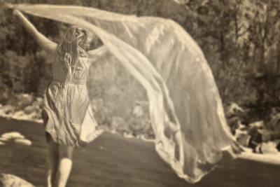 Woman With Veil Art Print
