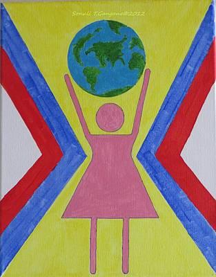 Women Rule The World Art Print by Sonali Gangane