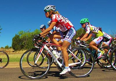 Tour Of The Gila Photograph - Women Start On Day Two by Feva  Fotos