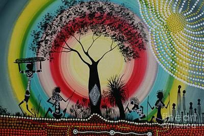 Women Under The Wisdom Tree Print by David Dunn