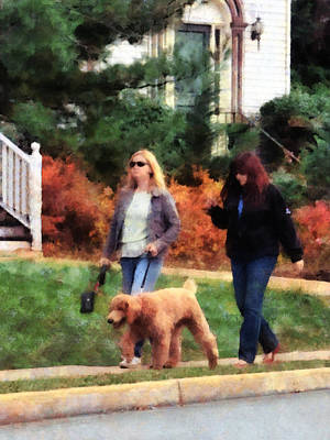 Photograph - Women Walking A Dog by Susan Savad