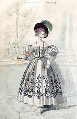 Photograph - Womens Fashion, 1833 by Granger