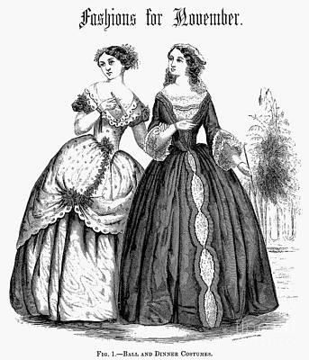 Womens Fashion, 1851 Art Print by Granger