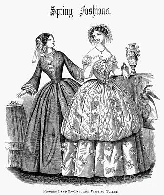 Ball Gown Photograph - Womens Fashion, 1853 by Granger